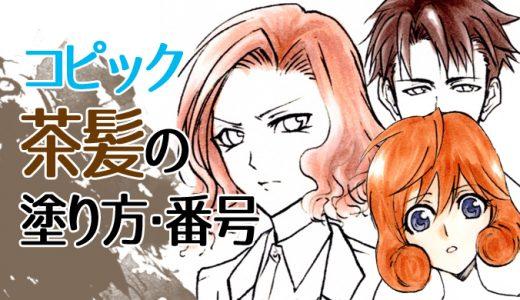 【初心者向け】コピックで茶色系のおすすめ番号はコレ!茶髪や赤茶色の髪の塗り方