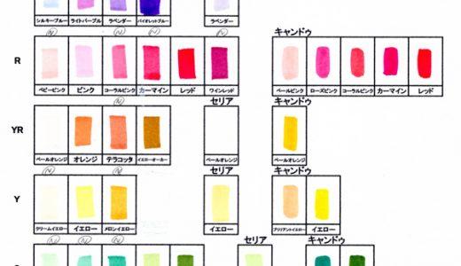 【ダイソーのコピック】新色20種類の色見本&使ってみた感想!おすすめ色は8色